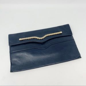 VTG Teak-Orr Leather Clutch